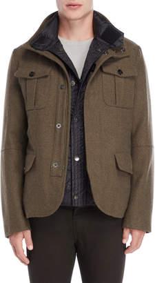 Peuterey Olive Bibbed Jacket