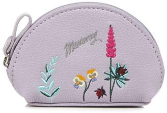 Mantaray Lilac Botanical Embroidered Coin Purse