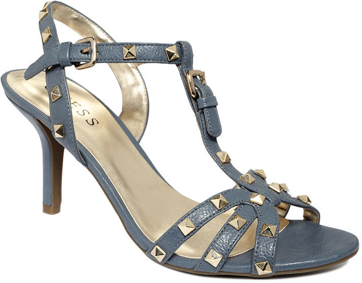 GUESS Women's Shoes, Santana Studded Sandals