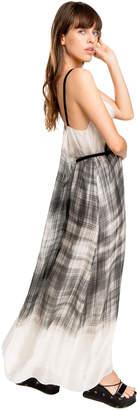 Max Studio printed silk mesh chiffon dress