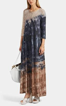 Raquel Allegra Women's Tie-Dyed Cotton-Blend Jersey Maxi Dress