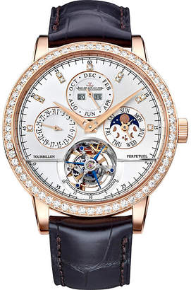 Jaeger-LeCoultre Q5042401 Master Grand Tradition 18K rose-gold and diamond watch