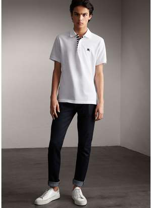 Burberry Striped Placket Cotton Piqué Polo Shirt $250 thestylecure.com