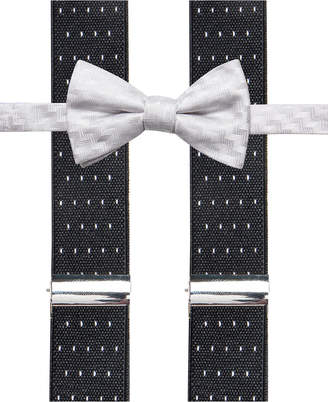Alfani Men Errol Chevron Stripe Bow Tie & Suspenders Set