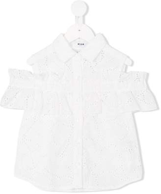 MSGM broderie anglaise buttoned blouse