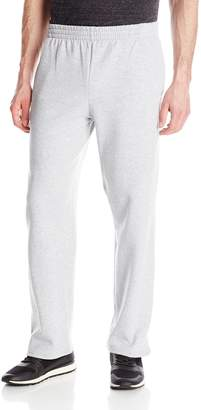 Fruit of the Loom Men's Pocketed Open-Bottom Sweatpants