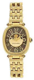 Judith Ripka Goldtone Stainless Black Moon Phase Watch