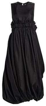 Noir Kei Ninomiya Paperbag Waist Bubble Midi Dress