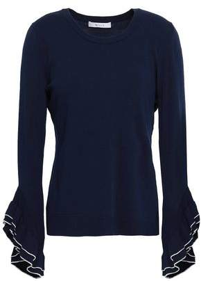 Milly Ruffle-trimmed Knitted Top