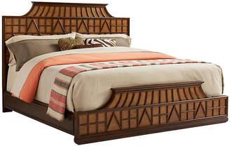 One Kings Lane Amistad Fretwork Panel Bed - Mahogany