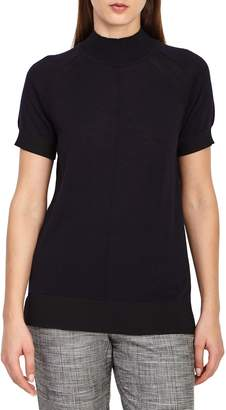 Reiss Rita Wool Short Sleeve Sweater