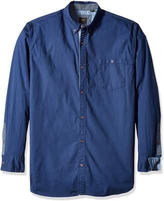 Lee Men's Button Down Shirt Long Sleeve Brady Dress Regular Big Tall