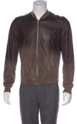 Alexander McQueen Ombré Leather Jacket