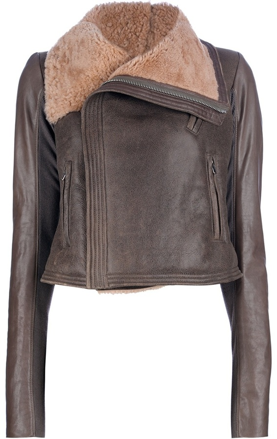 Rick Owens fitted lambskin jacket
