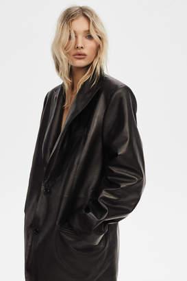 J Brand Elsa Birthday Blazer In Black Leather