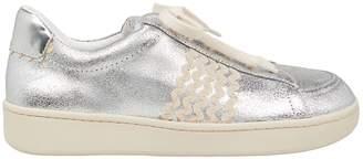 Loeffler Randall Elliot Wavy Detail Silver Sneakers