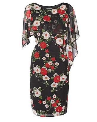 Gina Bacconi Niyla Print Dress And Cape