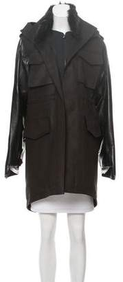 Reed Krakoff 2015 Shearling And Leather-Trimmed Coat