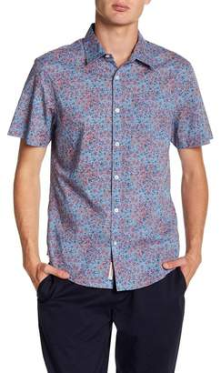 Original Penguin Short Sleeve Floral Print Heritage Slim Fit Lawn Shirt