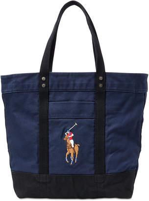 Polo Ralph Lauren Men Canvas Big Pony Tote Bag 6eb2bb7709