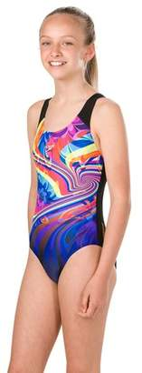 Next Girls Speedo Multi Print Splashback Swimsuit