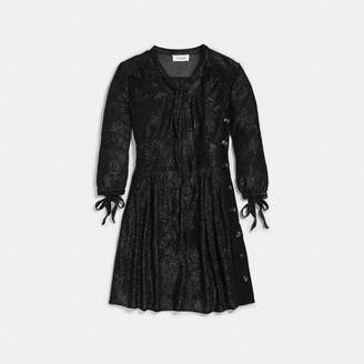 Coach Lurex Tie Neck Dress
