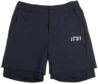 N°21 Cotton Poplin Sweat Shorts