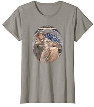 Womens Alphonse Mucha Art Nouveau Woman's T-Shirt