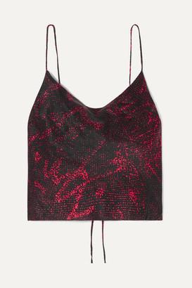 Ksubi Roxette Printed Silk-crepe Camisole - Red