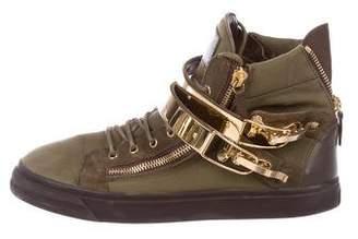 Giuseppe Zanotti Military High-Top Sneakers