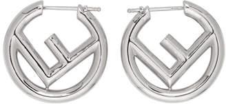 Fendi Silver Small F is Hoop Earrings