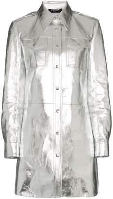 Calvin Klein Metallic Shirt Mini-Dress