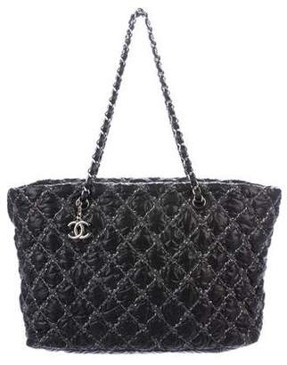 Chanel Nylon Tweed On Stitch Tote