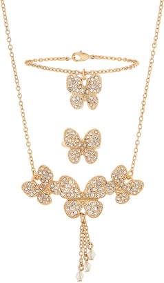 Monsoon Maria Butterfly Necklace, Ring & Bracelet Set