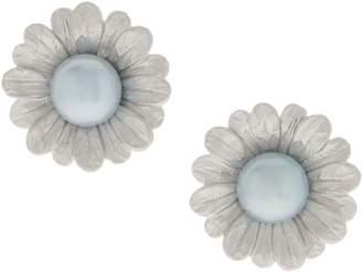 Honora Cultured Pearl Flower Earrings Sterling