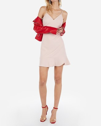 Express Ruffle Cami Fit And Flare Dress