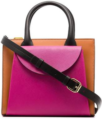 Marni leather two-tone tote bag