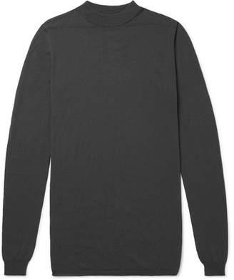 Rick Owens Mock-Neck Virgin Wool Sweater