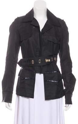 CNC Costume National Belted Notch-Lapel Jacket