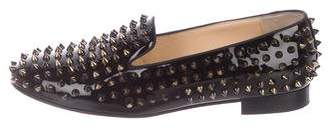 Christian Louboutin Rolling Spikes Flat Patent Loafers