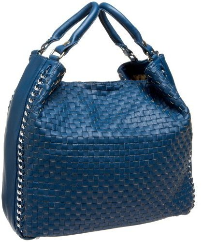 Melie Bianco Large Woven Convertible Bag with Chain