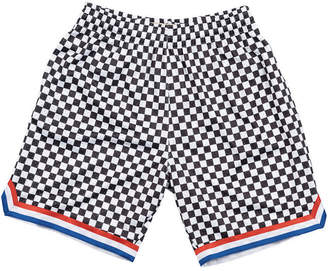 Mitchell & Ness Men Cleveland Cavaliers Checkerboard Swingman Shorts
