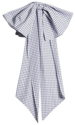 Cotton Belt Dovima Paris - Romy Bow Embellished Gingham Womens - Navy White