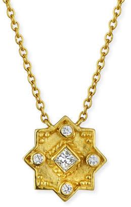 Amrapali Legend 18k Heritage Star Pendant Necklace w/ Diamonds