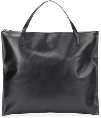 Jil Sander Zip leather tote