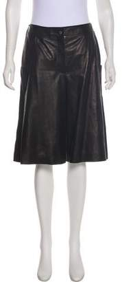Chanel Leather High-Rise Shorts