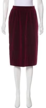 Saint Laurent Vintage Velvet Skirt