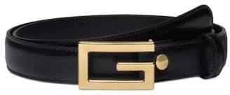 Gucci Lisse Calfskin Leather Belt