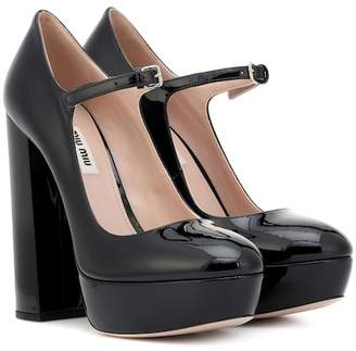 Miu Miu Mary Jane patent leather pumps