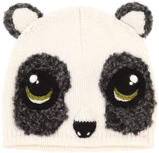 Dolce & Gabbana Panda Wool & Cashmere Knit Beanie Hat